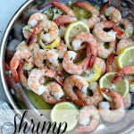 Roasted shrimp with garlic butter.