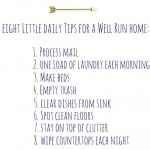 A well run home: eight daily tips.