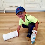 Motivating kids to help with spring cleaning.