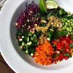 Thai veggie quinoa salad